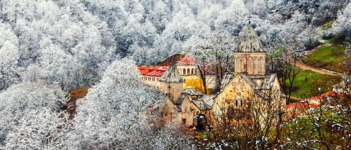 Driving in Armenia in winter